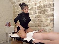 Perfect asian massage and blowjob