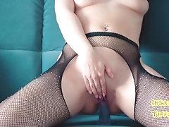 Dripping pussy cum all around...