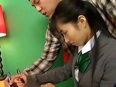 Hot Jap Chick In School Uniform...