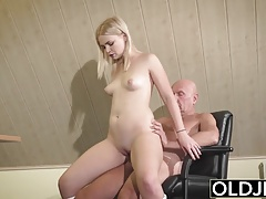 Barely Legal Teen Riding Old Man...