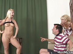 Funny game with mature couple...