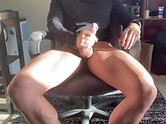 applying lotion on my cock