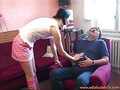 Old dude seduces teen girl