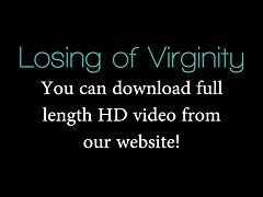 Cute virgin get licked and fucked