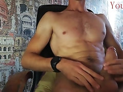 A sexy guy on a chair dreams of...