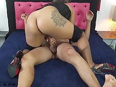 Hot Tattooed Latina Fucking...