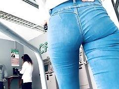 Perfect Ass . Latina Spandex...
