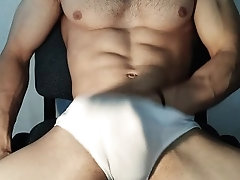 Hot guy moaning and jerking hard...