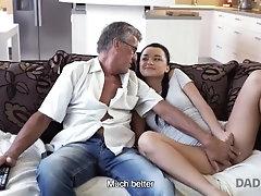 DADDY4K Brunette satisfies her...