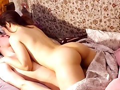 Romantic and real couple sex at...