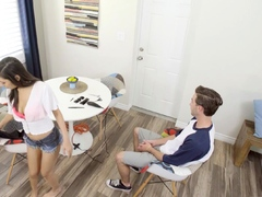 Perverted teen asked stepbro for...