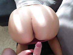 Step sister with a fat ass fucks...