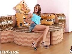 Is my tiny little jean miniskirt...