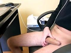 Hot Guy Masturbating During...