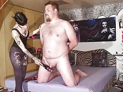 Cock slapping & spanking CBT...