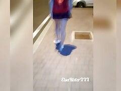 Showed her ass on a walk, no...
