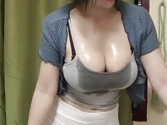 Huge wet tits asian bouncing maid 2