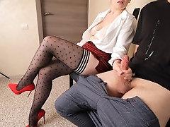 Stranger girl in stockings...