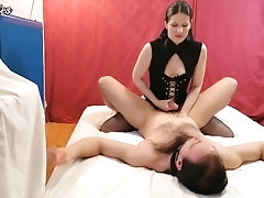 FemDom pegging her BF until he...