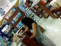 Indian teen upskirt in bookstore