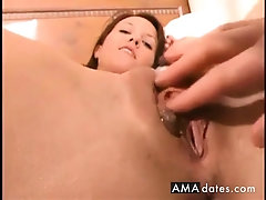 Cute Brunette Gets Her Pussy...