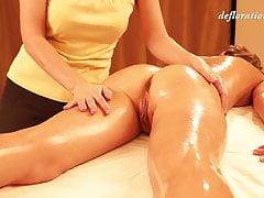 Virgin Abel massaged by a sexy...