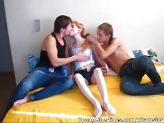 Young Libertines - Three-way sex...