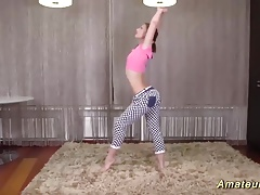 cute teen stretching her flexi body