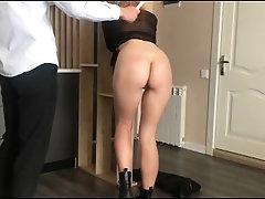 Light BDSM. Hot wax on the ass...
