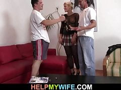 Lick and fuck my wife while i watch
