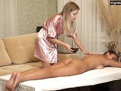 Olivia Cassi virgin enjoys her...