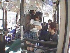 Schoolgirl Fucked in the Bus -...