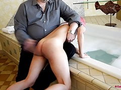 A Strict Uncle Spanks Her Bare Ass!