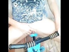 Crazy girl masturbating on toy...