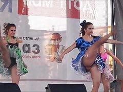 upskirt dance