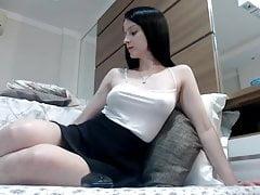 Teen girl with big natural boobs...