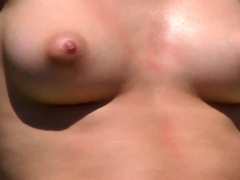 Sexy brunette woman Topless...