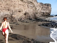 Blowjob at the secret beach with...