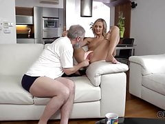 OLD4K. Horny daddy demonstrates...