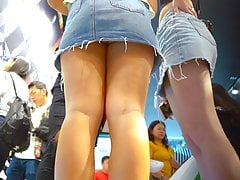 Young Girl Upskirt Trying The...
