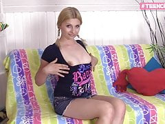 sweet petite teen cries at first...