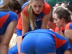 College volleyball girl