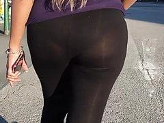 Candid panties showing through...