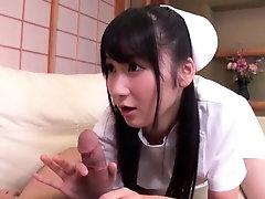 Nurse Chie Aoi pleases a patient...
