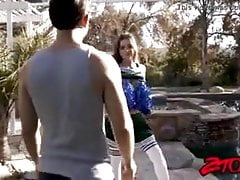 Teen cheerleader Gia Page banged...