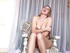 Horny College Girl Masturbates...